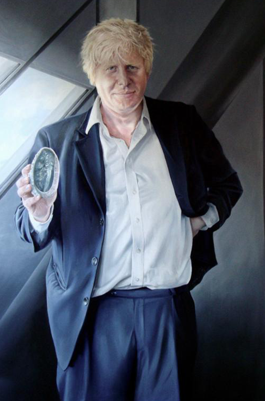Original Helen Masacz Portrait of Boris Johnson