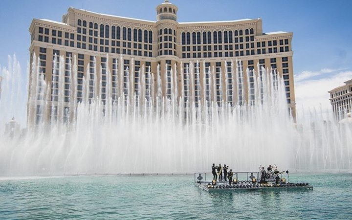 fountains outside Bellagio, Las Vegas