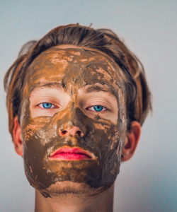 Men with a face mask