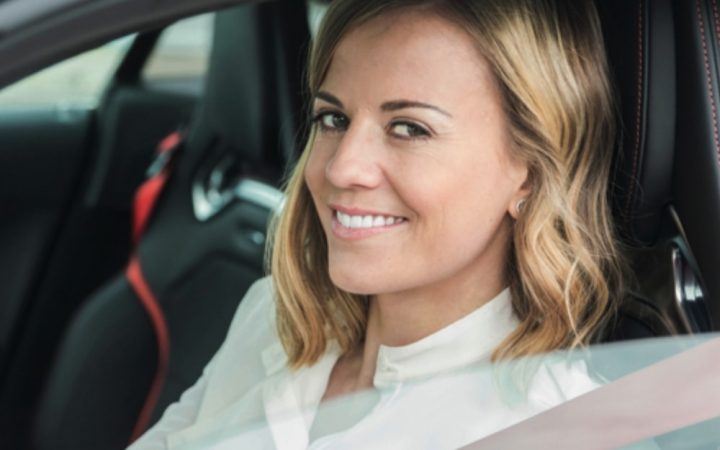 Photograph of Susie Wolff in the drivers seat of a car.