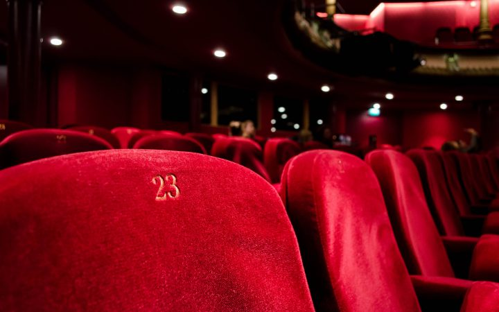 Photograph of red seating in opera house