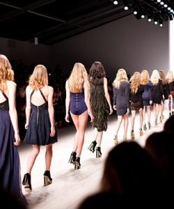 Models on runway