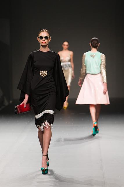 model on runway