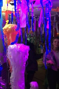 The recycled jungle was made from all recycled plastic from around the Manor