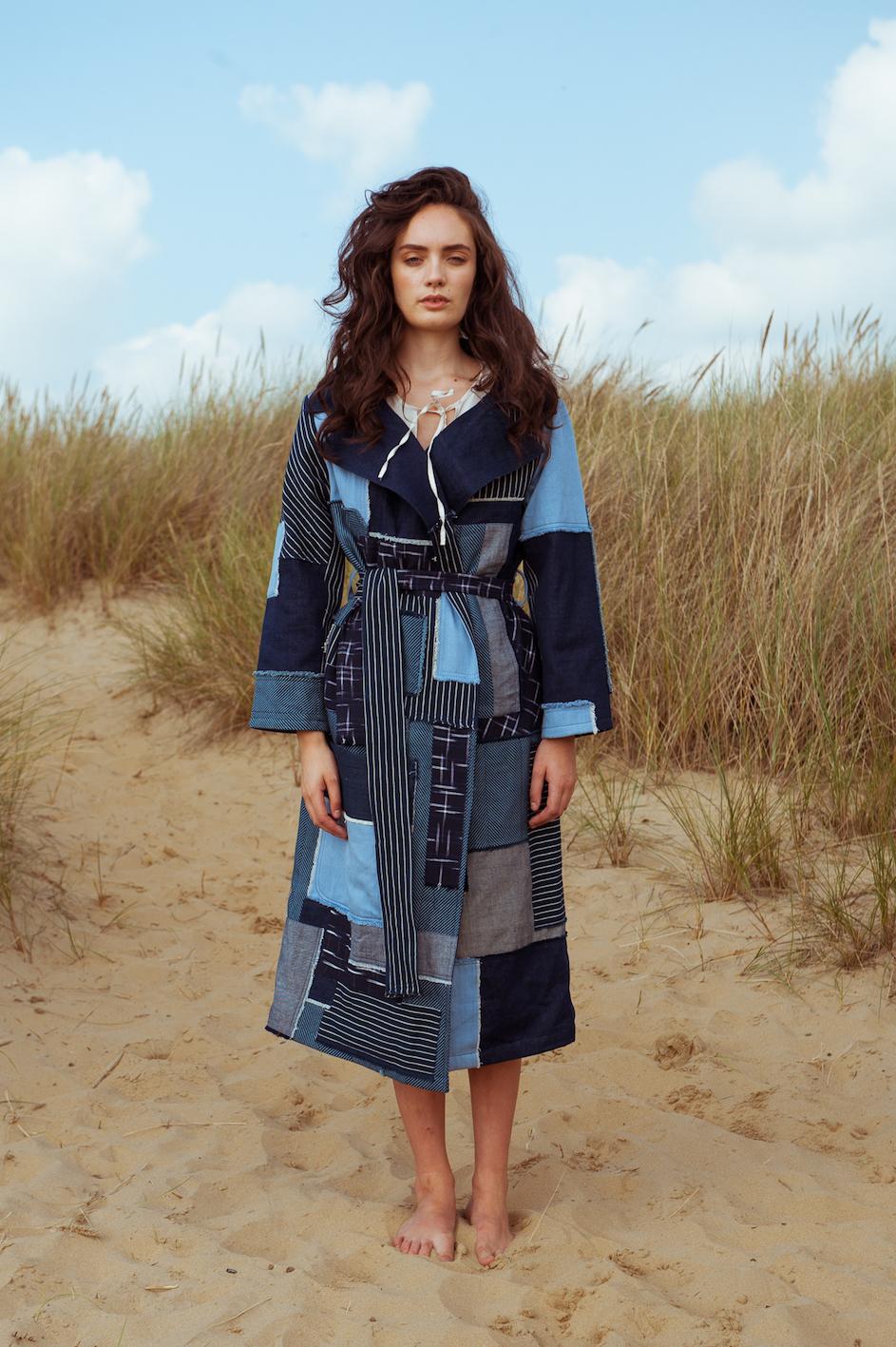 Oshadi lookbook, denim dress