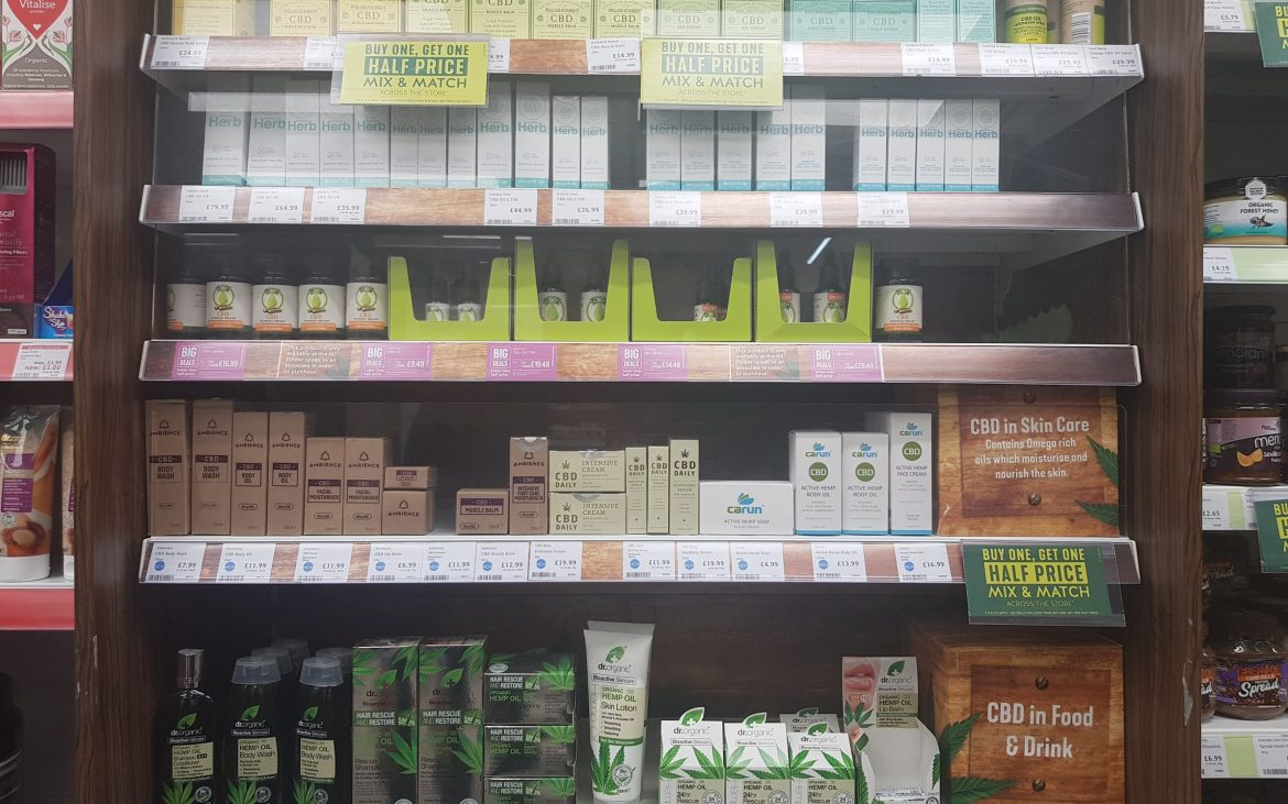 CBD oil being sold over-the-counter