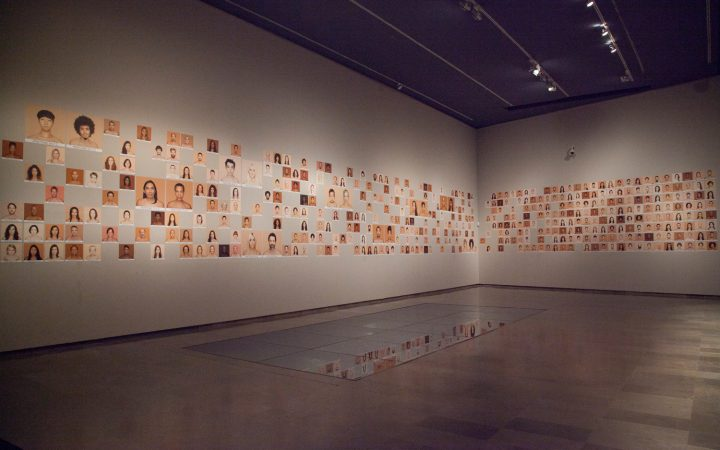 The Humanae Project being displayed in a gallery