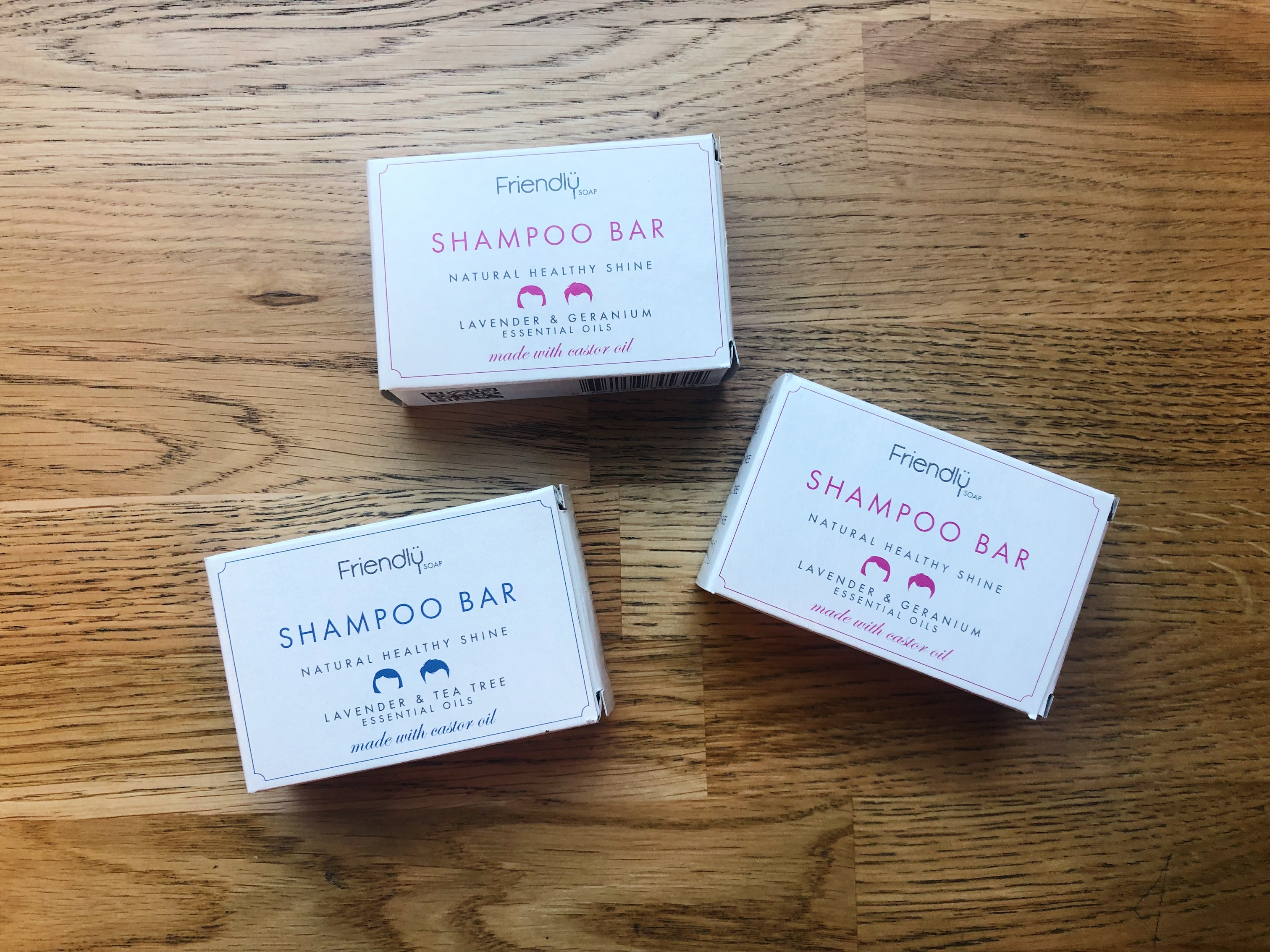 3 shampoo bars by Friendly Soap