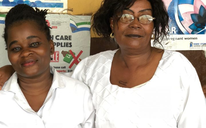 Midwives of a slum clinic in Freetown