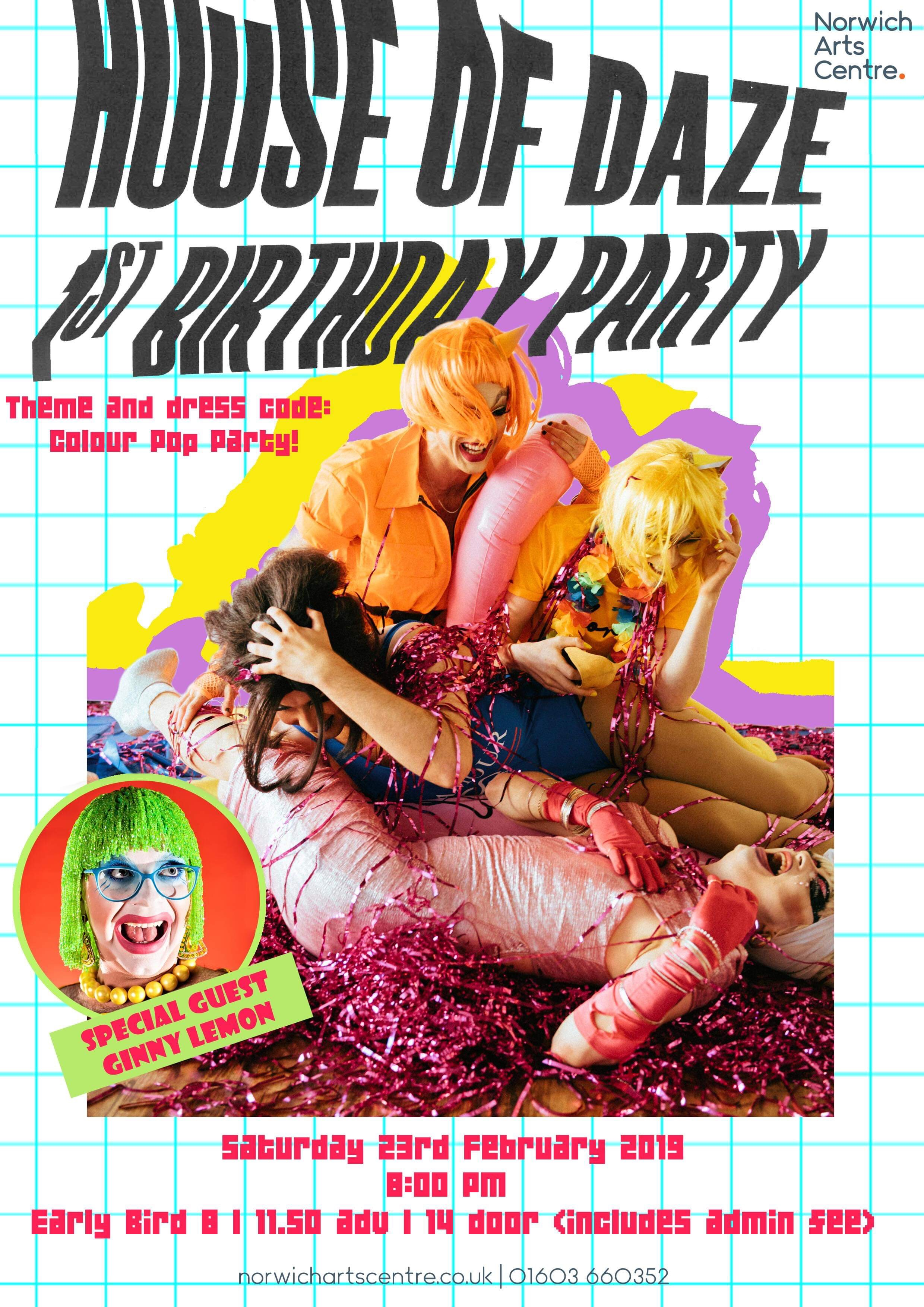 House of Daze Birthday Celebration Poster. Credited to The House of Daze