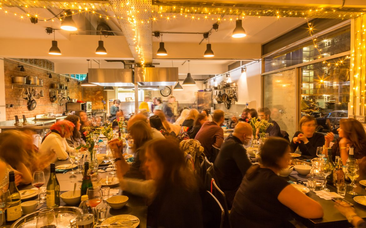 Diners enjoying one of SOOP's supper clubs.