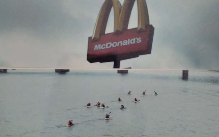 McDonalds being flooded