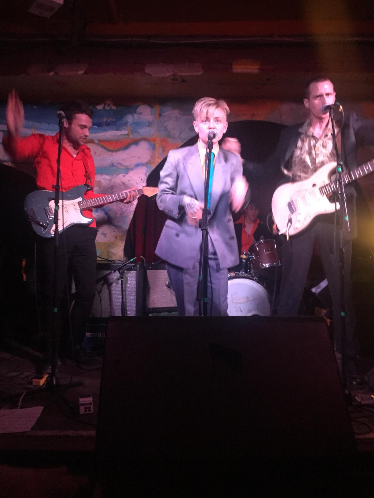 Meggie Brown on stage during their most recent show at The Shacklewell Arms