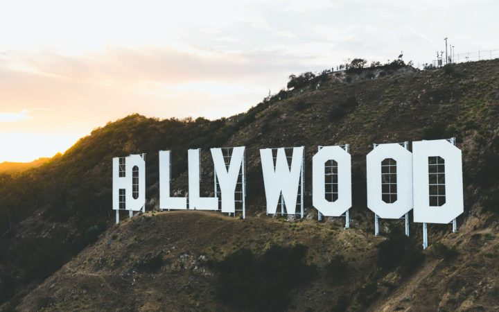 hollywood sign on the hollywood hills