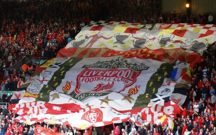 Liverpool fc logo amongst fans