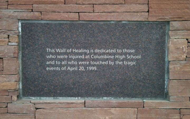 Columbine wall of healing via Shaun Campbell l Flickr [No changes were made]