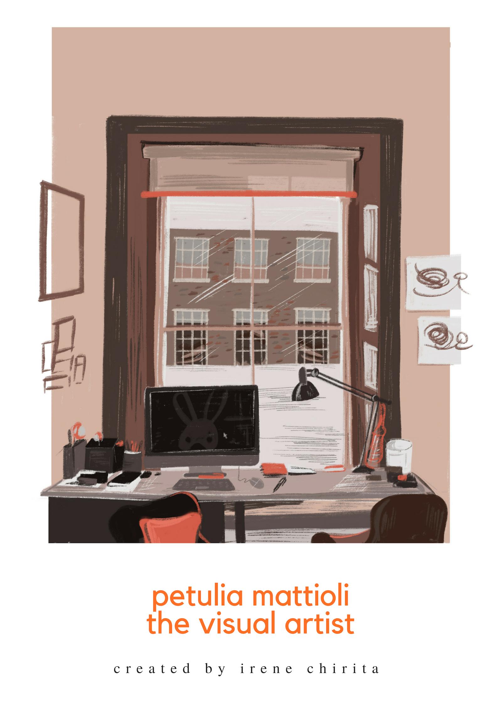 Petulia's desk in her home [Diandra Elmira]