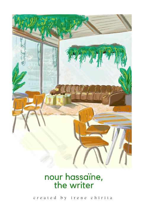 """The Store"" cafe in London [Drawing by Diandra Elmira]"