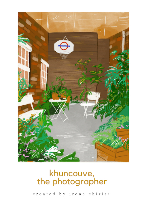 KhunCouve's garden in Shoreditch, London [Drawing by Diandra Elmira]