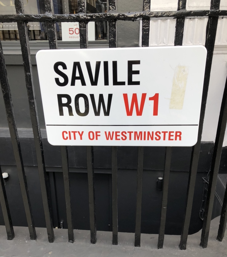 A picture of the street sign for Savile Row