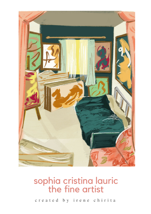 In Sophia's room [Drawing by Diandra Elmira]