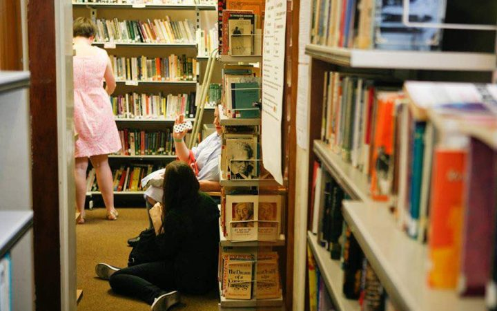 The feminist library fiction and theory rooms