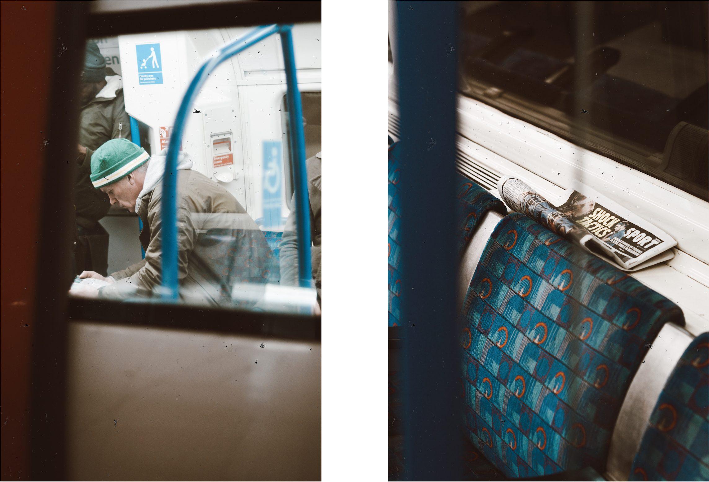 Man reading on the tube [Irene Chirita]