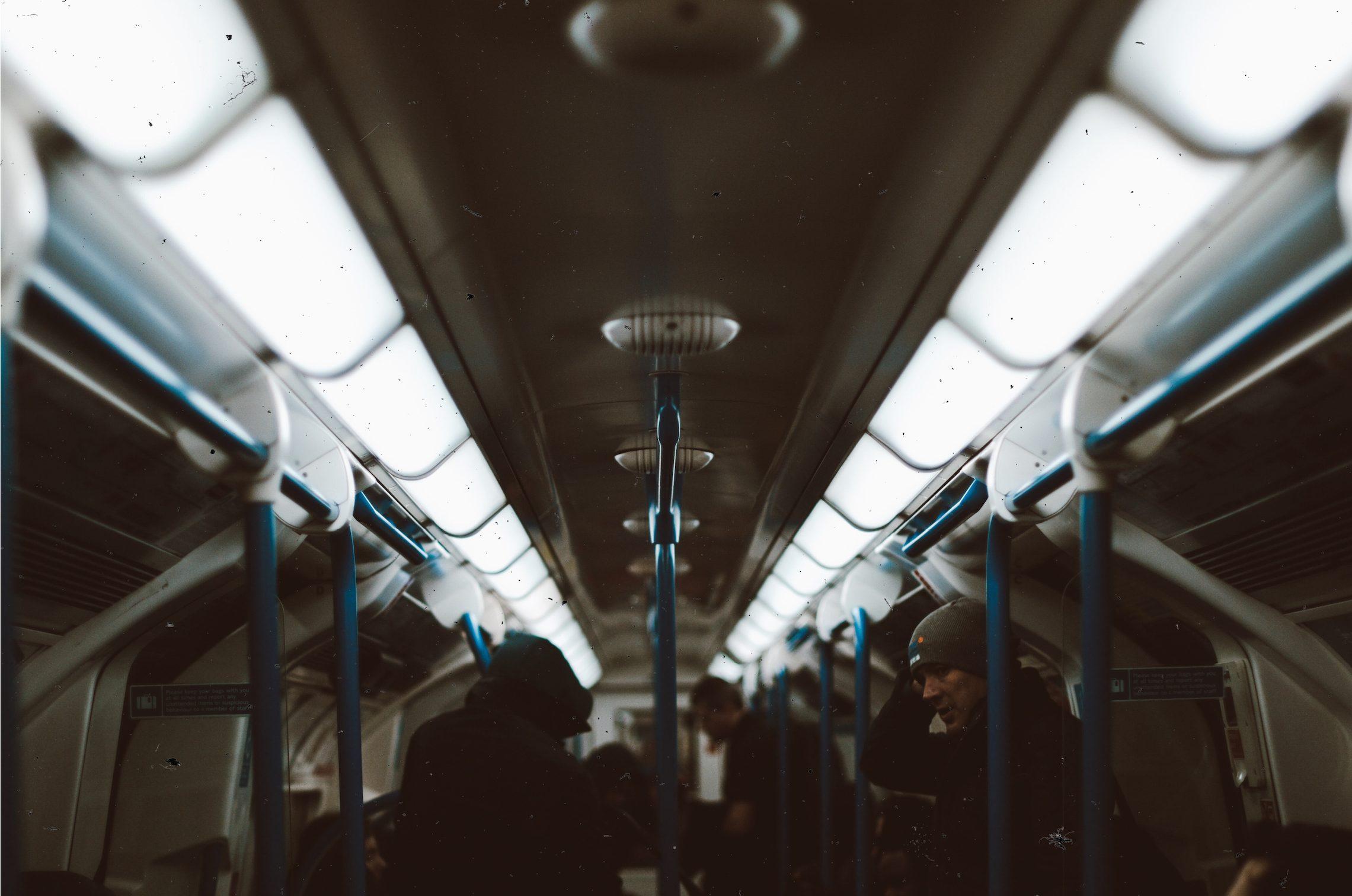People on the tube during morning rush hour [Irene Chirita]