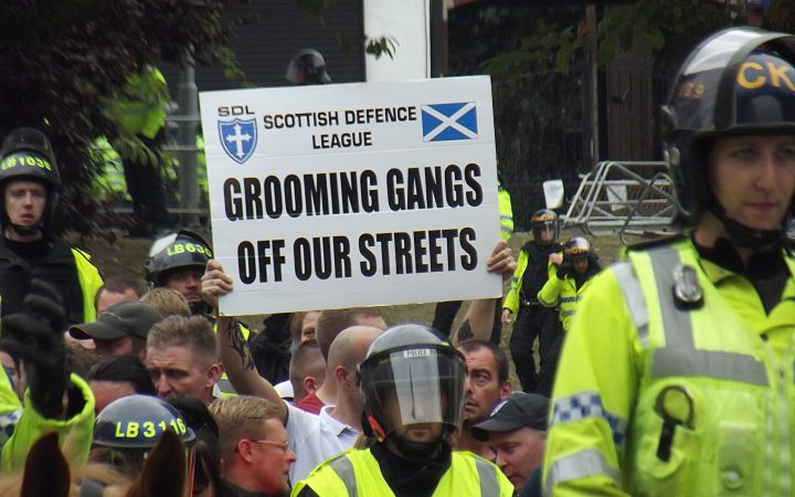 Anti Grooming protester