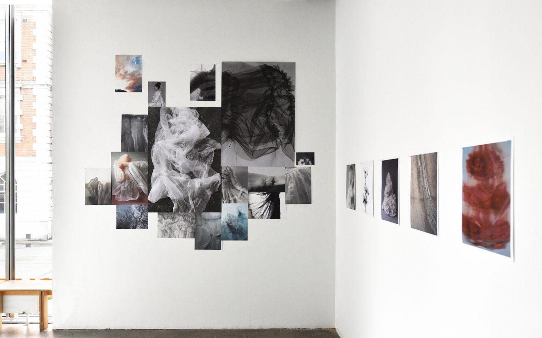 gallery wall by window