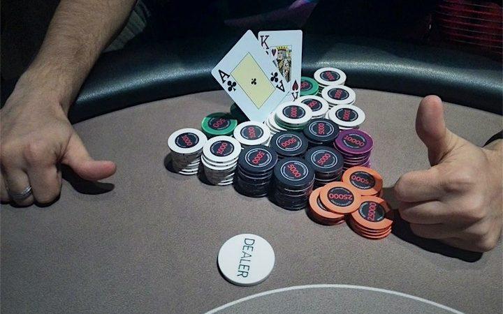 Poker chip winnings