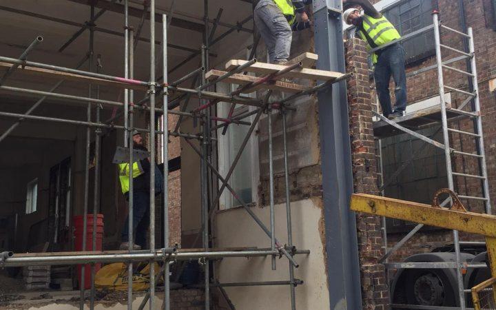 Installing a steel beam