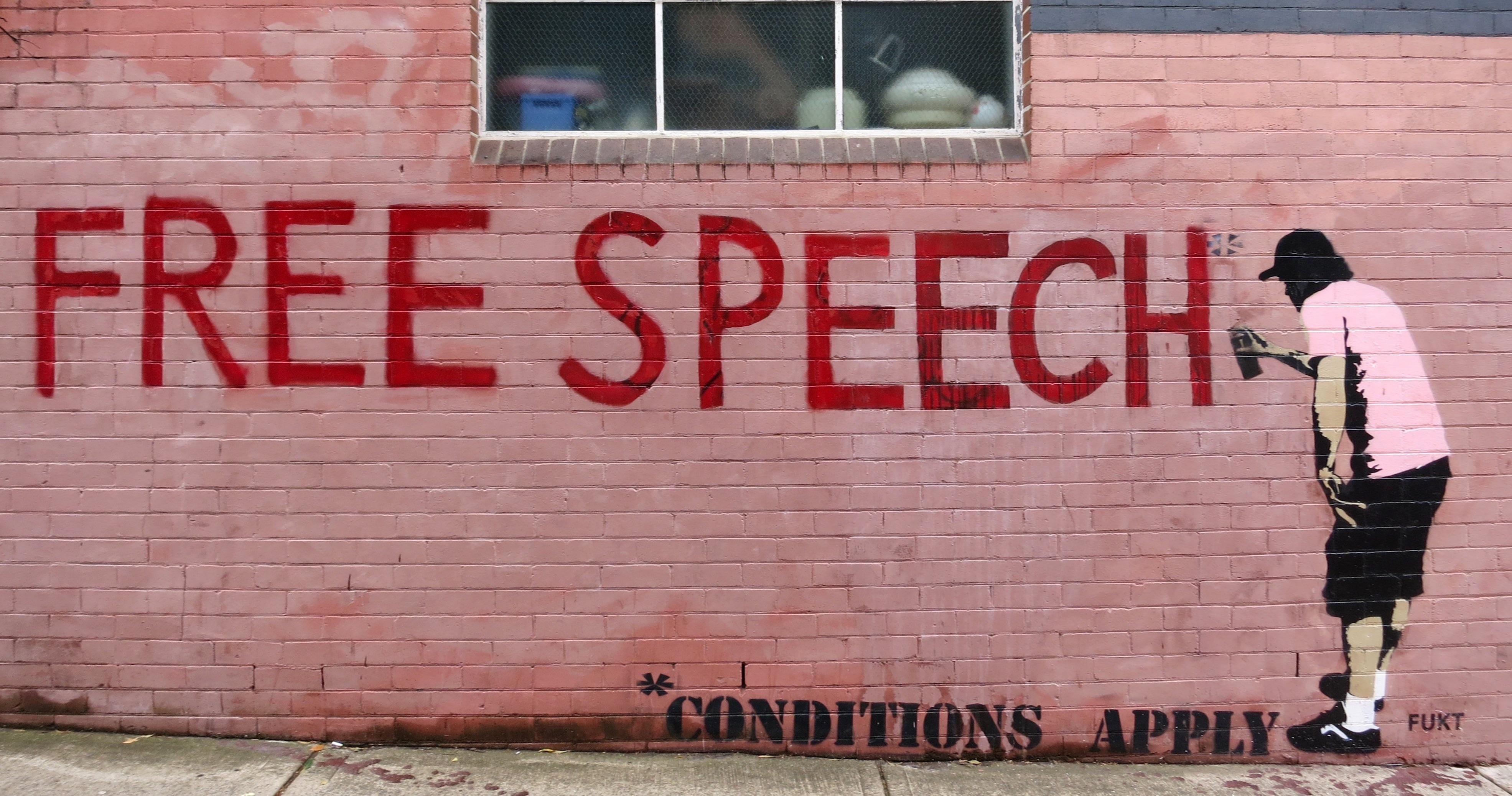 Photo of free speech graffiti