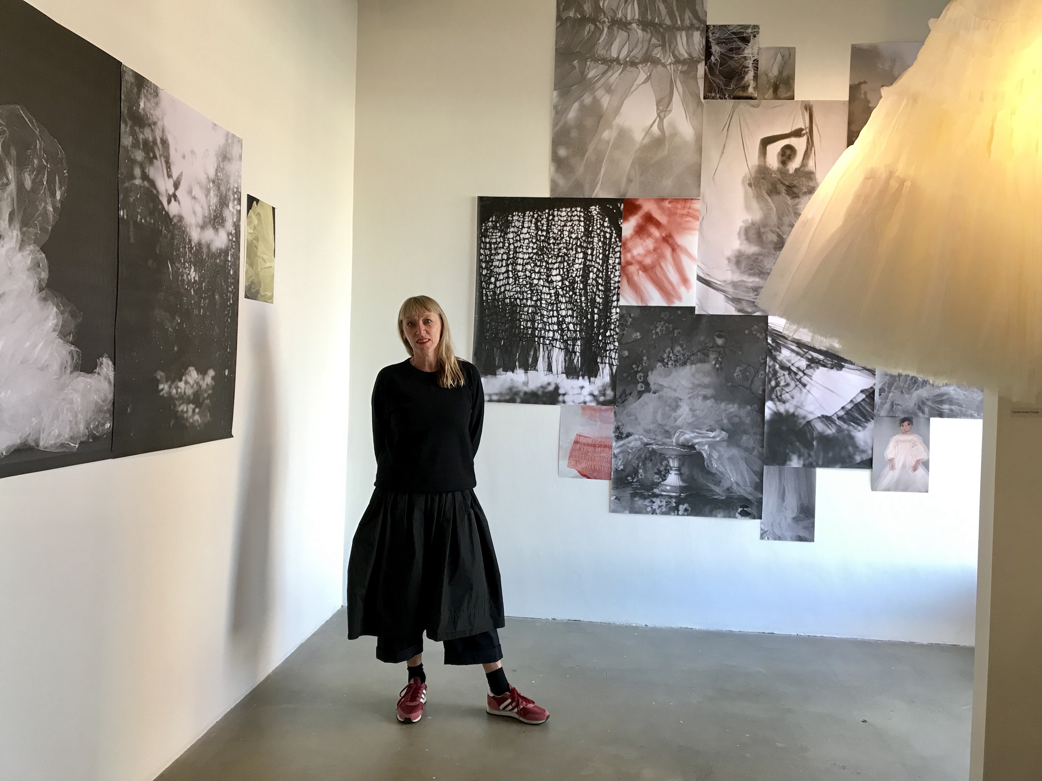 sarah edwards in front of her pieces