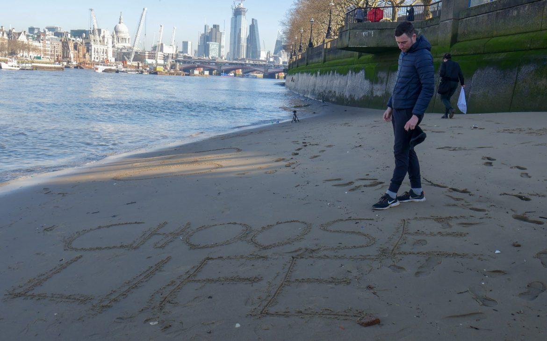 Joshua on London's southbank