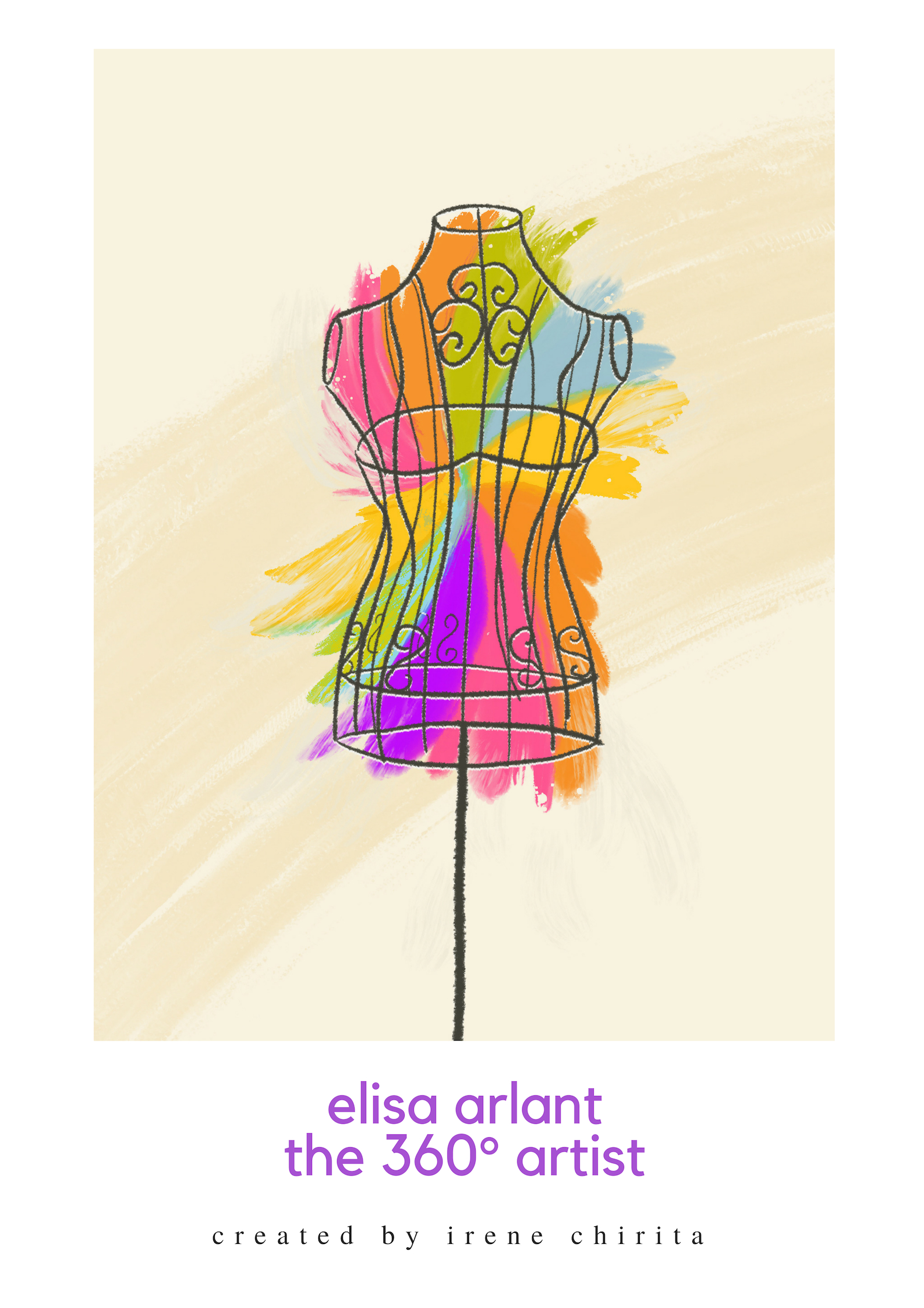 Colourful mannequin [Drawing by Diandra Elmira]