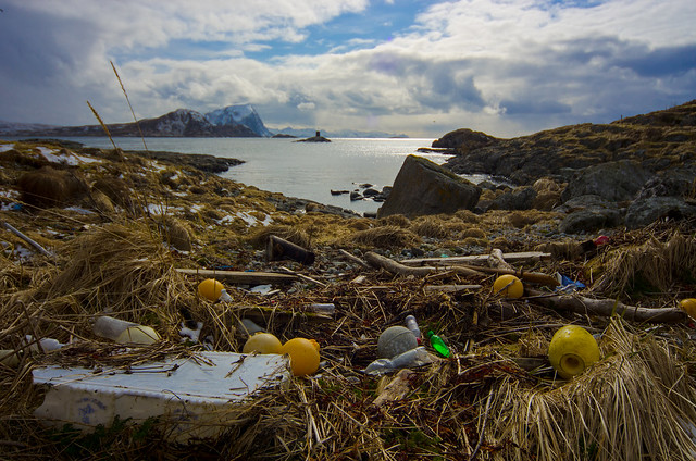 plastic waste ruining a scenic view