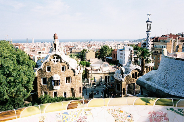 View of Gaudi's Barcelona