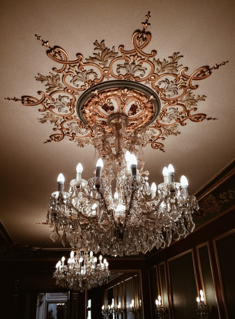 a grand chandelier