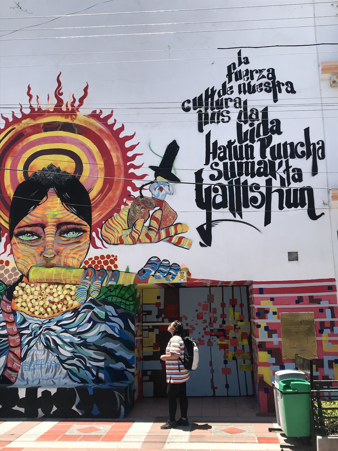 a colourful mural in quito