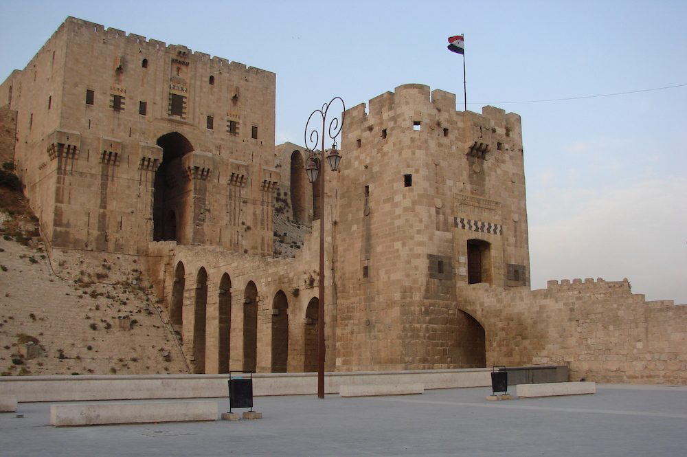 Image showing one side of the citadel in aleppo