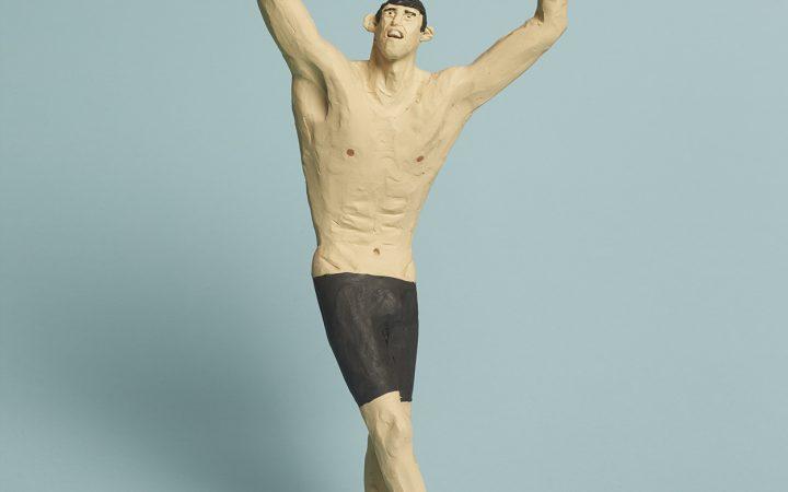 Michael Phelps sculpture