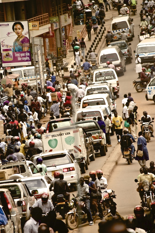 Traffic in the city of Kampala