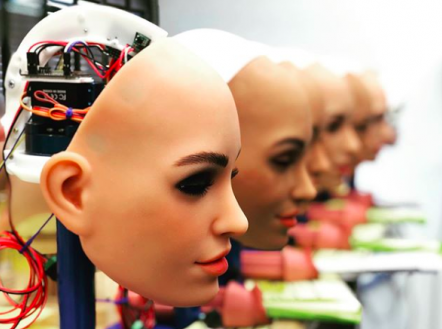 Production lines of female mannequins