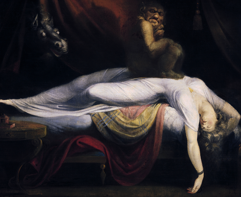An oil painting 'The Nightmare' painted by Henry Fuseli. Taken from iStock images.