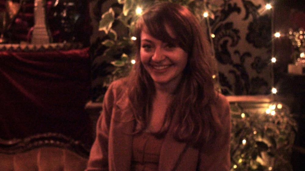 Steph Artione pictured smiling at The Cavendish Arms after a successful show