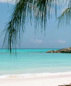 A private beach on the Bahamas, picture perfect location.