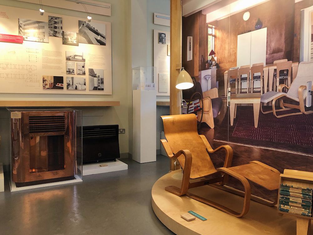 The interior of the Isokon Gallery, featuring Marcel Breuer's Isokon Long Chair
