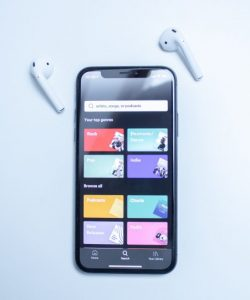 Phone on Spotify with Airpods