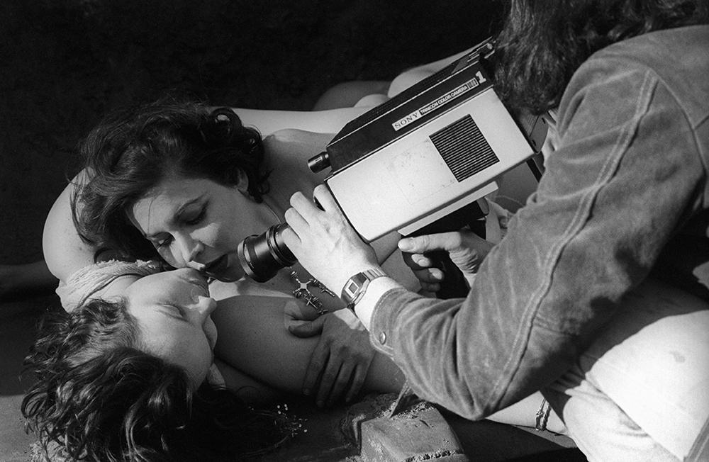 Alex Bennett films an erotic scene between two women for Midnight Blue